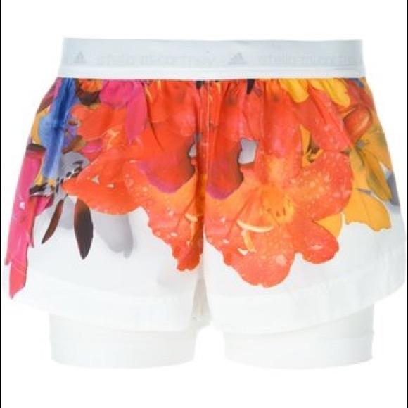 f325abb4e792 Adidas by Stella McCartney Pants - Adidas by Stella McCartney Blossom Running  Shorts